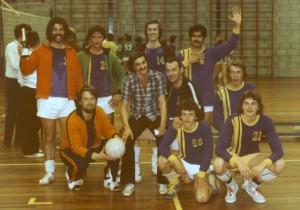 Oude teamfoto